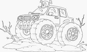 100 Monster Truck Coloring Hot Wheels Pages
