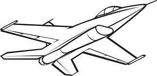 Jet Fighter clipart black and white 2