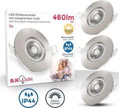 b k licht led einbauleuchte led einbaustrahler bad spots le ultraflach deckenspots ip44 kaufen otto