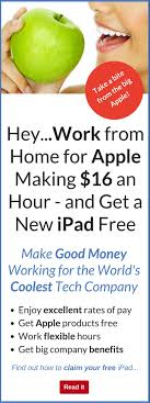Work from Home for Apple Making $16 an Hour…and Get a Free iPad