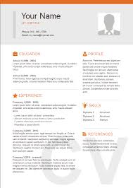 Resume Template Format Basic Icons Two Column