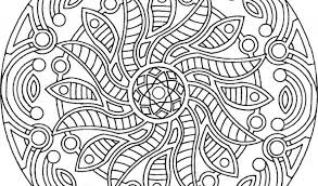 Simple Coloring Printable Mandalas Pages On Mandala For Adults