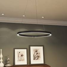LED Chandelier Modern Circular Light Fixture With Adjustable Suspension