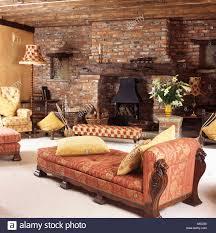komfortable terrakotta zoffany gepolstert chaiselongue im