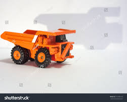 Toy Big Orange Dump Truck On Stock Photo (Edit Now) 312396158 ...