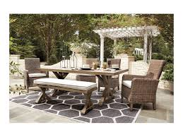 Signature Design By Ashley Beachcroft 6 Piece Outdoor Dining Set ... Klaussner Outdoor Delray 7piece Ding Set Hudsons Breeze Ding Chair Alinum Frame Harbour Suncrown Brown Wicker Fniture 5piece Square Modern Patio To Enjoy Lovely Warm Summer Awesome Patio Quay Chair By King Living Est Living Design Directory Room Charming Image Of For Hampton Bay Belcourt Metal With Walmartcom Bilbao Five Piece Falster Ikea I Love The Looks Of This Outdoor Ding Set Table 10 Easy Pieces Chairs In Pastel Colors Gardenista