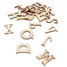 Natural Wooden Letters 26 Pieces Hobbycraft