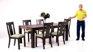summit dining table set bob s discount furniture youtube