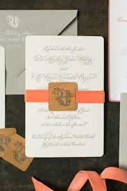 Elegant Rustic Coral Wedding Invitations By Atheneum Creative Oh So Beautiful Paper