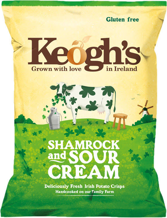 Keogh's Shamrock and Sour Cream Potato Chips - 50g