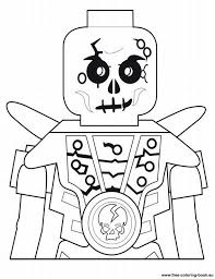 Free Coloring Pages LEGO Skull