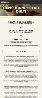 Outback Steakhouse Coupons - $4-$5 Off A Couple Entrees Today At ... Can I Eat Low Sodium At Outback Steakhouse Hacking Salt Gift Card Eertainment Ding Gifts Food Steakhouse Coupon Bloomin Ion Deals Gone Wild Kitchener C3 Coupons 1020 Off Coupons Free Appetizer Today Parts Com Code August 2018 1for1 Lunch Specials Coupon From Ellicott City Md On Mycustomcoupon Exceptional For You On The 8th Day Of