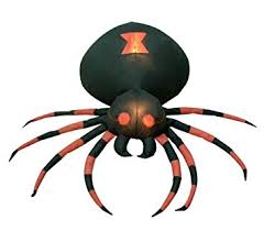 amazon com 4 foot wide halloween inflatable black spider yard