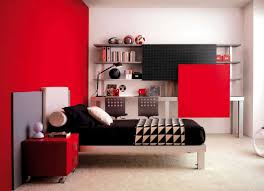 How To Simply Decorate Your Red Bedroom Walls Contemporary White
