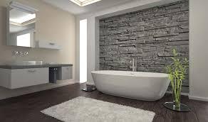 moderne badezimmer mit holz elementen