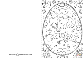 Click The Happy Easter Doodle Card Coloring Pages To View Printable Version Or Color It Online Compatible With IPad And Android Tablets