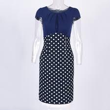 online get cheap navy blue polka dot dress aliexpress com