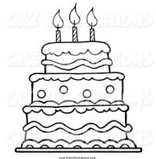 cake clipart black white Bing images