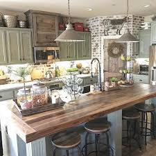 Soft Colors With Exposed Brick A Farmhouse Style Kitchen