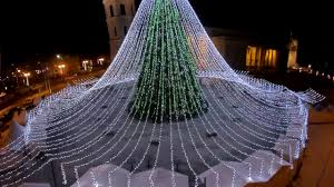 Christmas Tree Rockefeller 2017 by The Christmas Tree In Cathedral Square In Vilnius Lithuania 2016