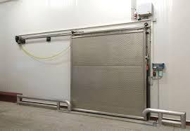 porte coulissante chambre froide portes coulissantes en métal pour chambres froides de