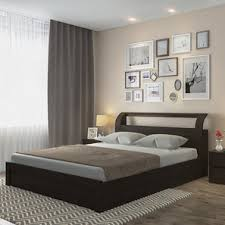 Sutherland Hydraulic Storage Bed King Size Dark Walnut Finish