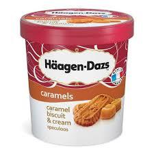 haagen dazs pot crème glacée caramel biscuit speculoos