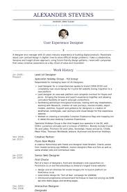 Ui Ux Designer Resume Lovely Samples Visualcv Database