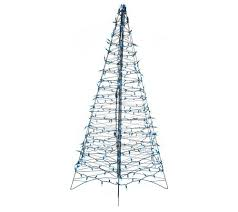 Prelit Christmas Tree That Puts Up Itself by Pre Lit 6 U0027 Fold Flat Outdoor Christmas Tree By Lori Greiner Page