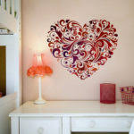 Flower Wall Designs For A Bedroom Of Cool Round Floral Ornaments Decals B03