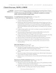 Resume Examplesmental Health Therapist Also Mental Worker Examples Case Simple Sample