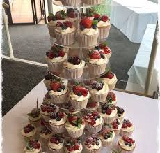 Semi Naked Wedding Cake Fruit Cupcakes
