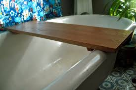 bathroom bath tub caddy for spa like atmosphere in the bath