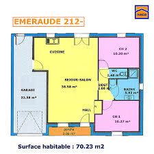 plan de maison 2 chambres plan de maison individuelle plain pied