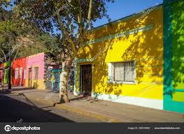 100 Houses In Chile Colorful Santiago City Street Stock Photo Daboost