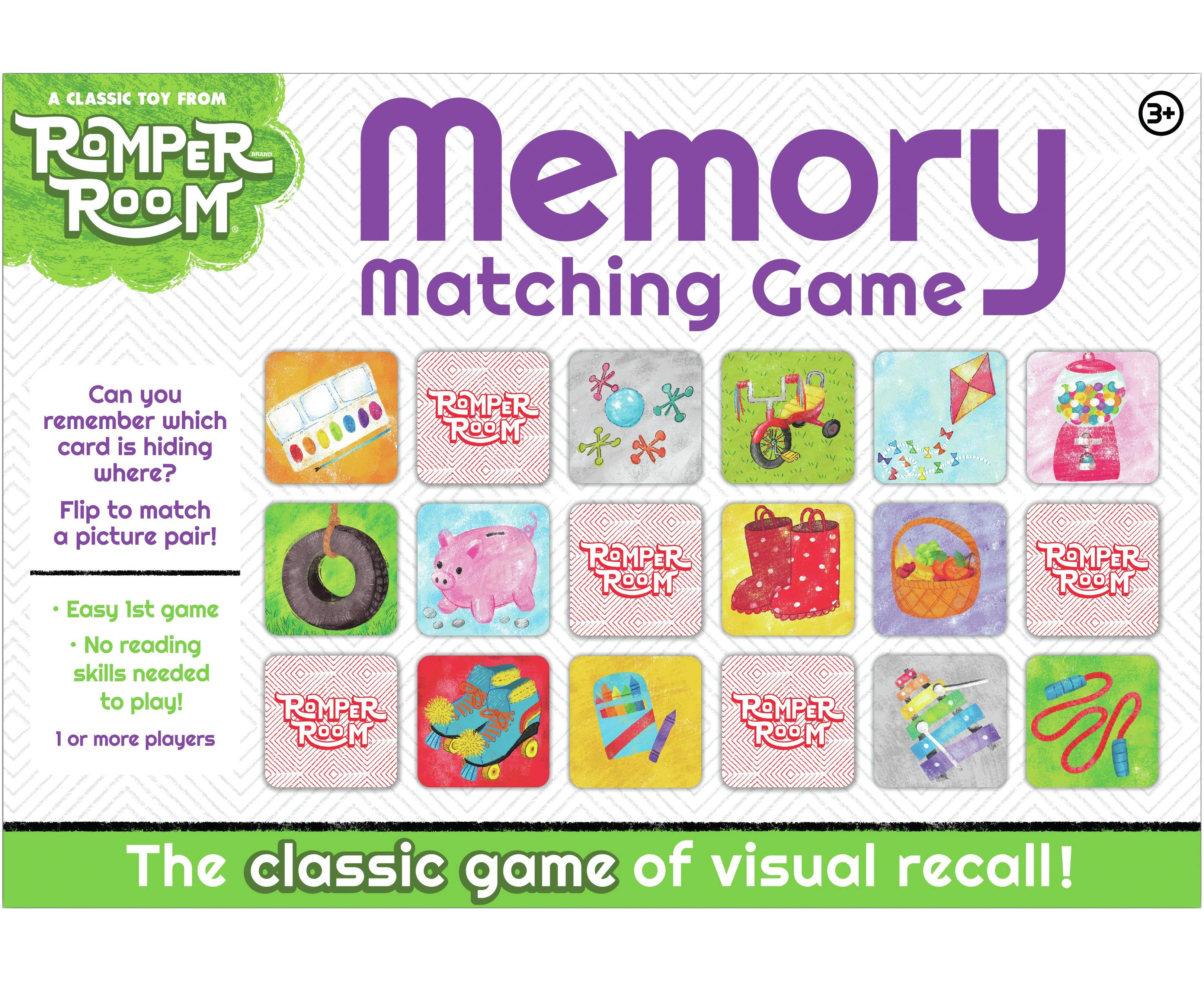 Romper Room Memory Matching Game
