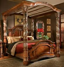 Wrought Iron And Wood King Headboard by Black Wrought Iron Canopy Bed With Leaves Ornament Using Cream Bed