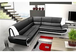canap noir et blanc amanda canapé d angle similicuir noir blanc 2a2 degriffmeubles