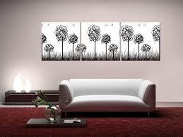 wandbilder modern design trees with birds