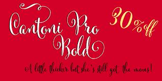 Cantoni Family 30offCantoni Font Script Hand Lettered