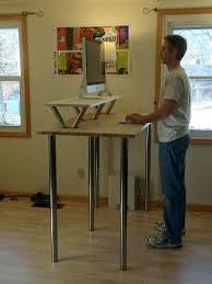 Ikea Reception Desk Canada by Showy Stand Up Desk Ikea Ideas Image Of A On Table With Laptop Top