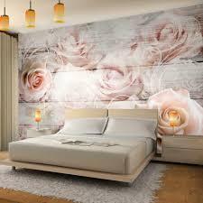 fototapete vintage blumen vliestapete rosa wohnzimmer schlafzimmer romantik