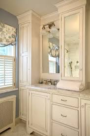 Bathroom Vanity Top Towers by Modern Linen Towers Bathroom Traditional With Framed Mirror