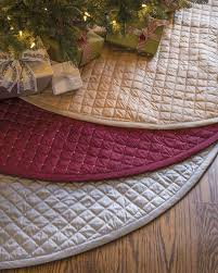 72 Inch Gold Christmas Tree Skirt by Regency Dupioni Quilted Tree Skirt Balsam Hill