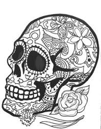 10 MORE Sugar Skull Day Of The Dead Original Art Coloring Book Pages For Adults Dias De Los Muertos Printable