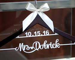 New Tech Wedding Hanger With Date Personalized Rustic Dress Custom Wood Bridal Last Name Shower Gift LL009