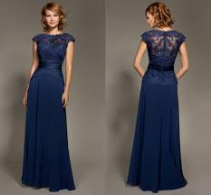 dark navy blue lace bridesmaid dresses short sleeve covered button