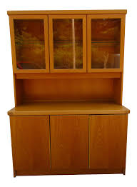 Curved Glass Curio Cabinet by Vintage U0026 Used Mid Century Modern China And Display Cabinets