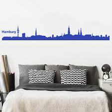 details zu wandtattoo hamburg skyline wandbild wanddeko wandschmuck dekotrend wandsticker
