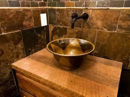 Brown Mosaic Bathroom Mirror by Rustic Bathroom Vanity Diy Bathroom Vanity Plus Wall Mirror Rustic